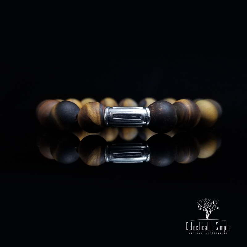 "Apparel & Accessories > Jewelry > Watches (201) ""Eye of the Tiger"" Series 10 , Men's Bracelets / Cuffs - Eclectically Simple, LLC"