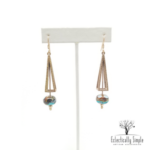 Apparel & Accessories > Jewelry > Watches (201) Brass Triangle Prism Earrings , Women's Earrings - Eclectically Simple, LLC