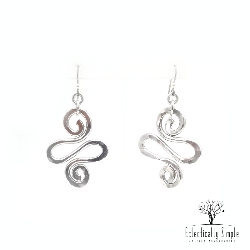 Apparel & Accessories > Jewelry > Watches (201) Aluminum Spiral Earrings Series 01 , Women's Earrings - Eclectically Simple, LLC