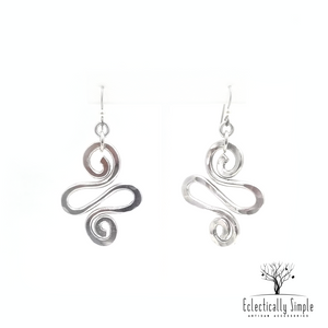 Apparel & Accessories > Jewelry Aluminum Spiral Earrings Series 01 , Women's Earrings - Eclectically Simple, LLC