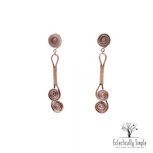 Sophisticated Artistic Coiled Wire Earrings - Eclectically Simple