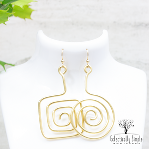 Brass Abstract Mismatch Earrings Series 01 - Eclectically Simple