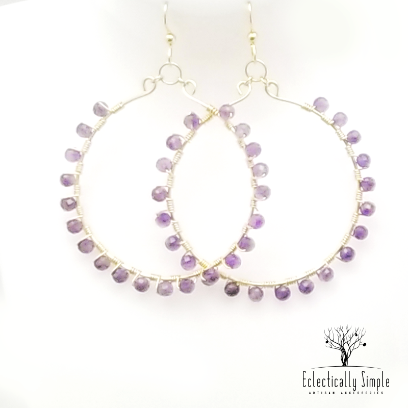 Gold Filled Gemstone Hoops - Eclectically Simple, LLC