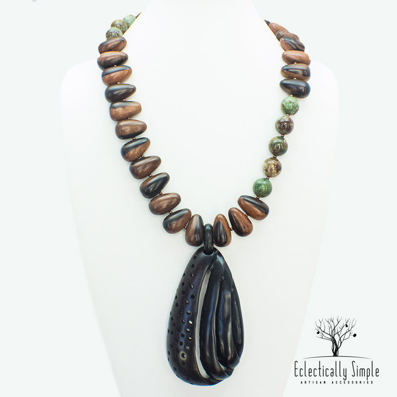 Apparel & Accessories > Jewelry Deep Forest Necklace , Women's Necklace - Eclectically Simple, LLC