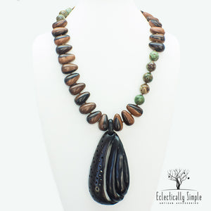 Apparel & Accessories > Jewelry > Watches (201) Deep Forest Necklace , Women's Necklace - Eclectically Simple, LLC