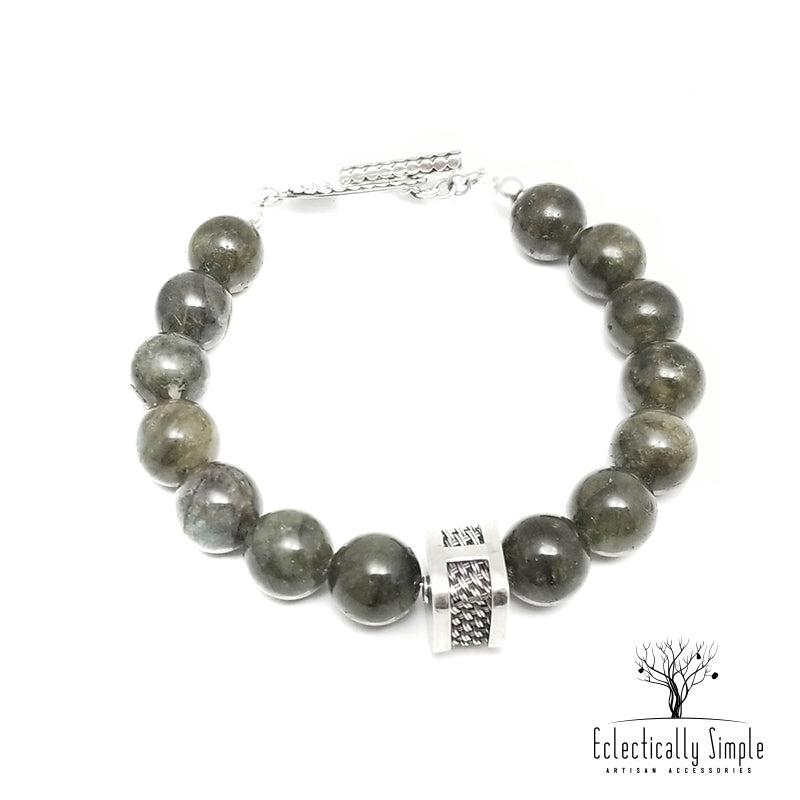 Apparel & Accessories > Jewelry > Watches (201) Men's Premier Bracelets - Labradorite , Men's Bracelets / Cuffs - Eclectically Simple, LLC