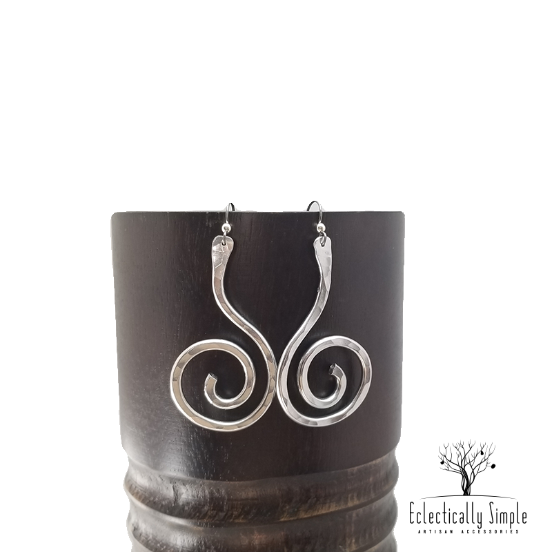 Apparel & Accessories > Jewelry Aluminum Little Dipper Spiral Earrings Series 01 , Women's Earrings - Eclectically Simple, LLC