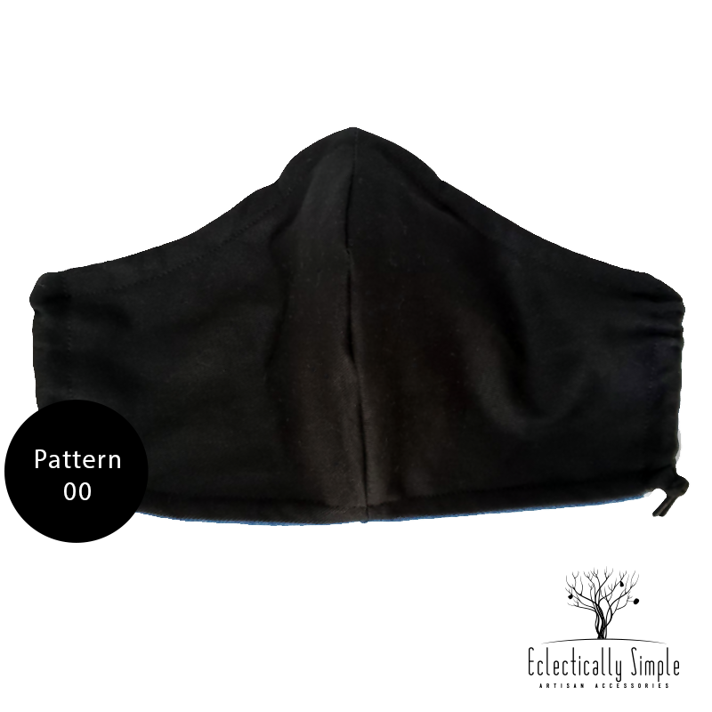 Apparel & Accessories > Jewelry Heavy Weight Fabric Masks w/ filter pocket , Masks - Eclectically Simple, LLC