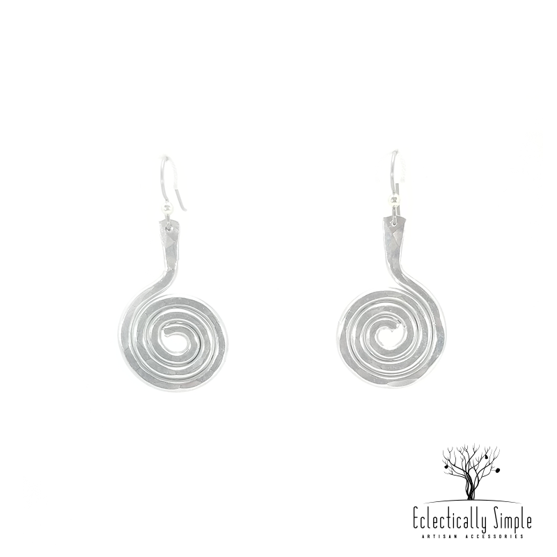 Apparel & Accessories > Jewelry Aluminum Swirl Earrings Series 01 , Women's Earrings - Eclectically Simple, LLC