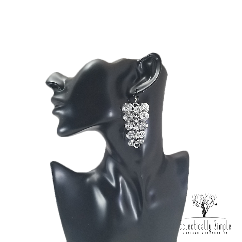 Apparel & Accessories > Jewelry Aluminum Vertebrae Earrings , Women's Earrings - Eclectically Simple, LLC