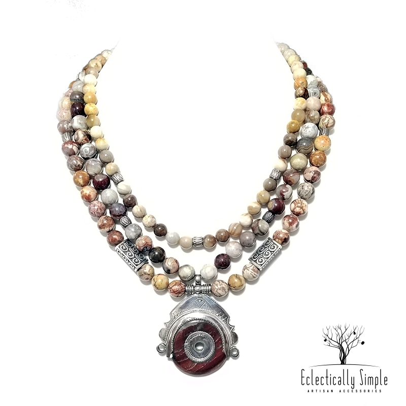 Apparel & Accessories > Jewelry Tin Hannan Necklace , Women's Necklace - Eclectically Simple, LLC