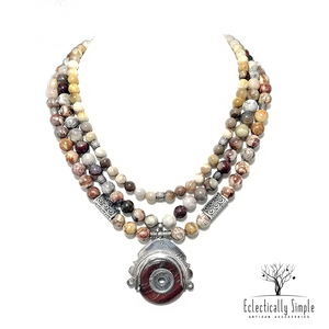 Apparel & Accessories > Jewelry > Watches (201) Tin Hannan Necklace , Women's Necklace - Eclectically Simple, LLC