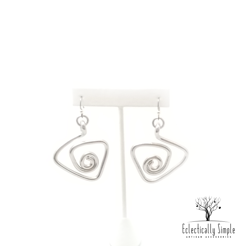 Aluminum Triangular Spiral Earrings Series 02 - Eclectically Simple