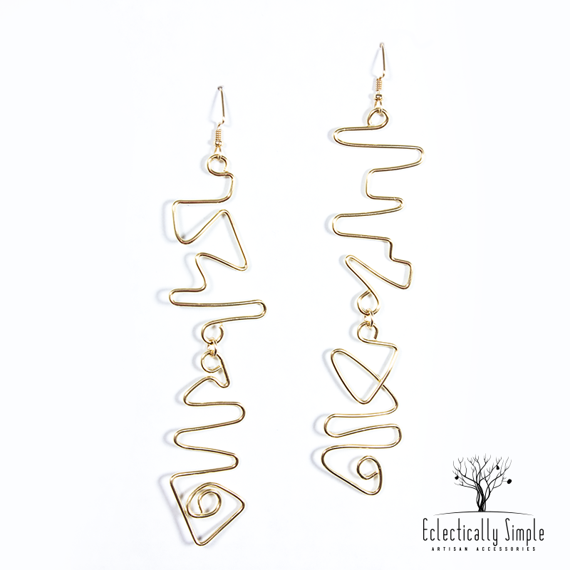 Abstract Drop Earrings - Eclectically Simple, LLC