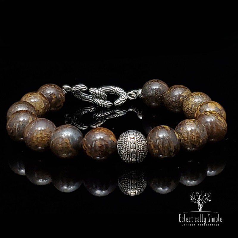 Apparel & Accessories > Jewelry Men's Premier Bracelets - Bronzite , Men's Bracelets / Cuffs - Eclectically Simple, LLC