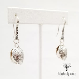 Sterling Silver Clamshell Earrings