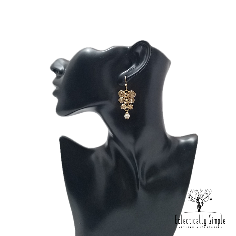 Apparel & Accessories > Jewelry Gold Filled Vertebrae Earrings ,  - Eclectically Simple, LLC