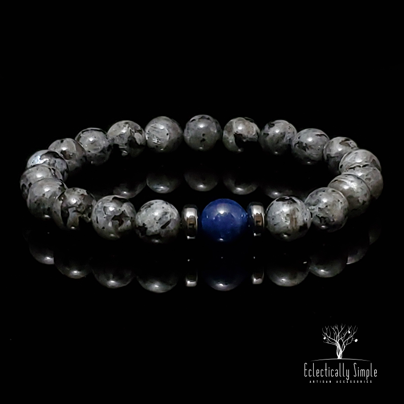 Apparel & Accessories > Jewelry Labradorite - Strength & Courage Series 02 , Men's Bracelets / Cuffs - Eclectically Simple, LLC