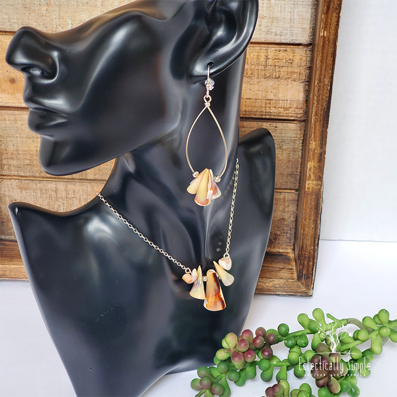 Apparel & Accessories > Jewelry Sterling Silver Luhuanus Shell Necklace , Women's Necklace - Eclectically Simple, LLC