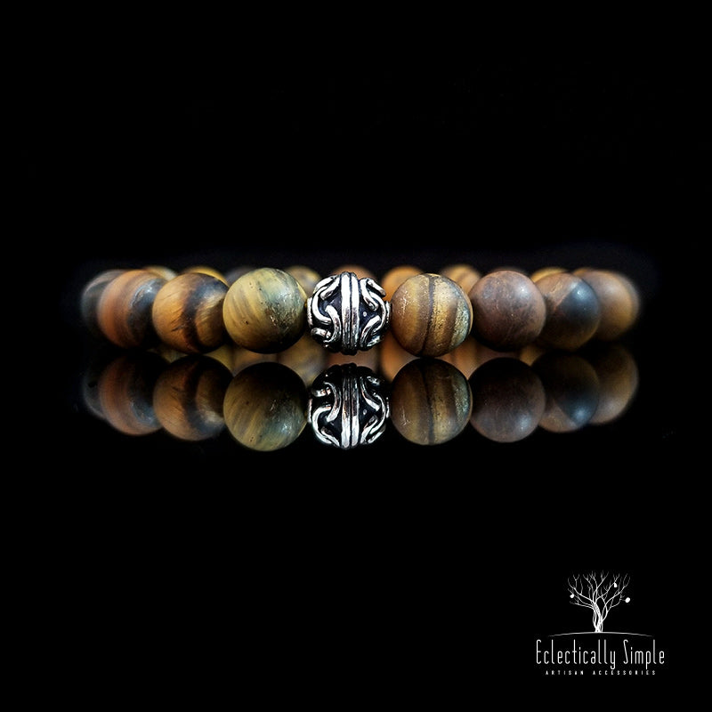 "Apparel & Accessories > Jewelry > Watches (201) ""Eye of the Tiger"" Series 02 , Men's Bracelets / Cuffs - Eclectically Simple, LLC"