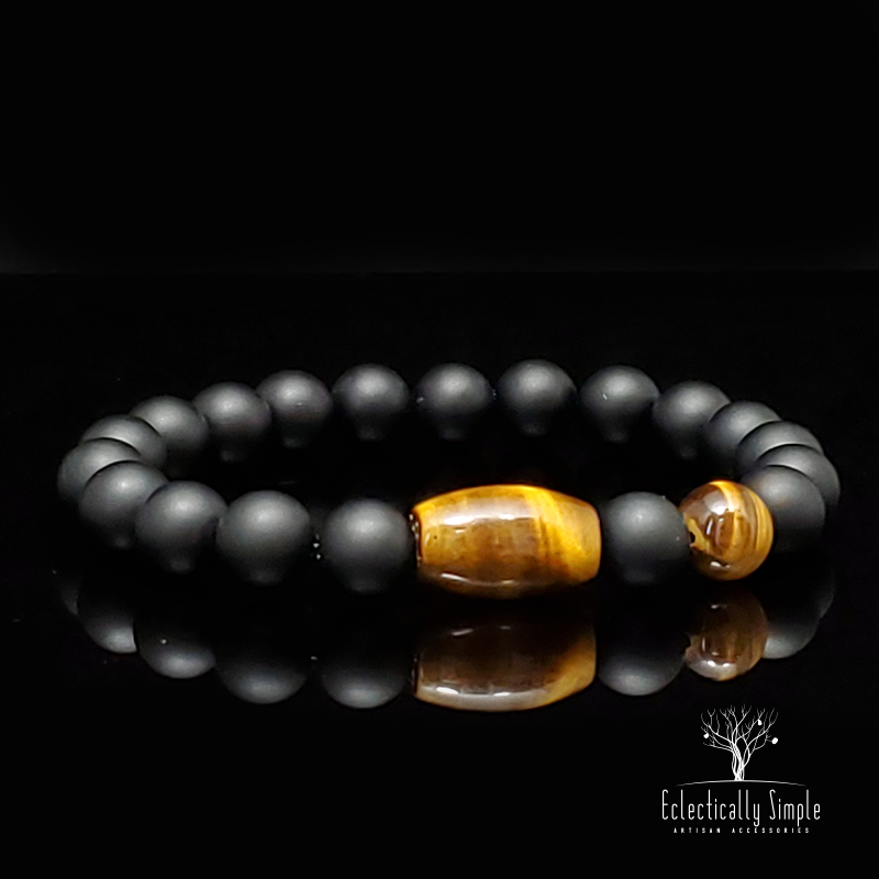 "Apparel & Accessories > Jewelry ""Eye of the Tiger""  Series 06 , Men's Bracelets / Cuffs - Eclectically Simple, LLC"
