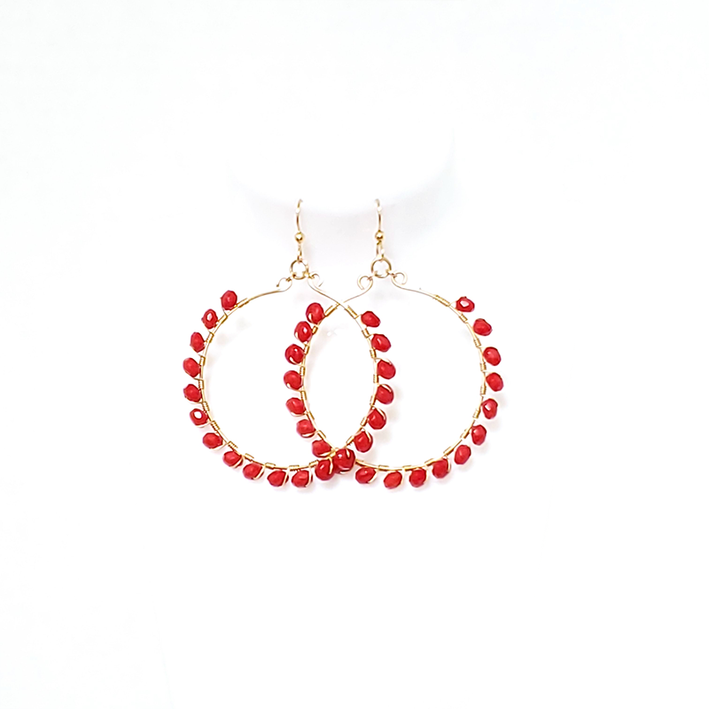 Apparel & Accessories > Jewelry Gold Filled Gemstone Hoops , Women's Earrings - Eclectically Simple, LLC