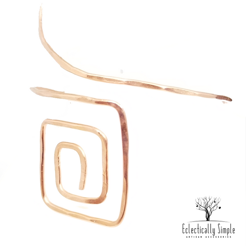 Squared Off Upper Arm Cuff - Eclectically Simple