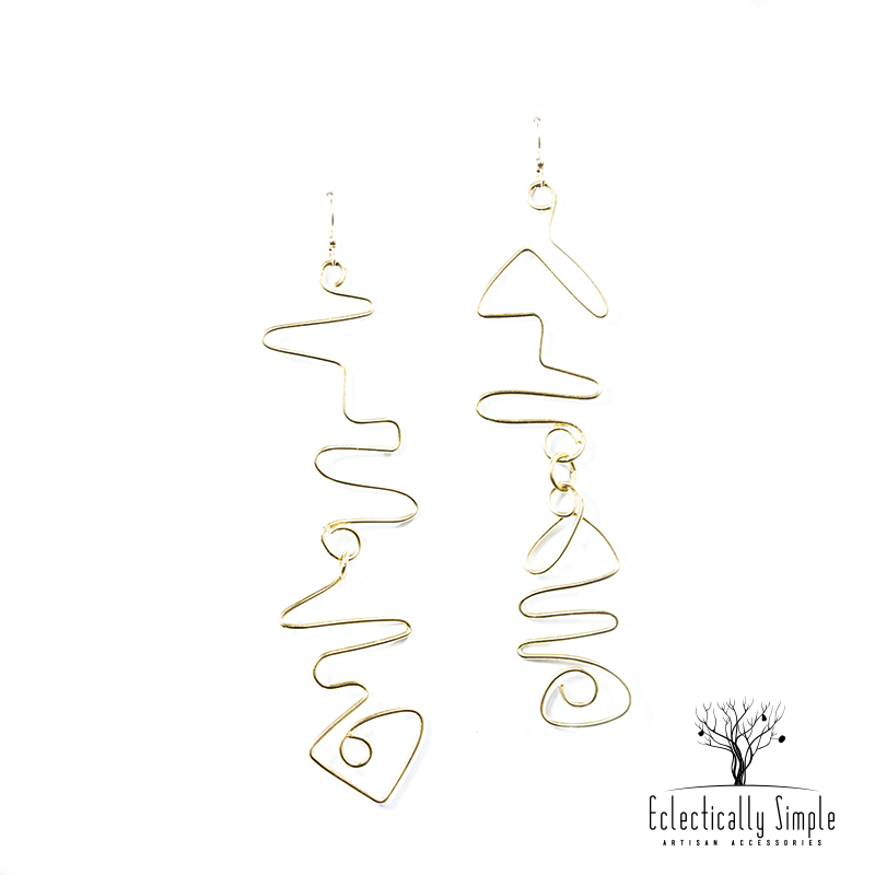 Apparel & Accessories > Jewelry Abstract Drop Earrings , Women's Earrings - Eclectically Simple, LLC