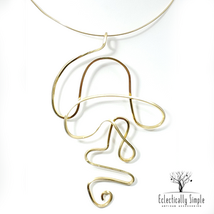 "Apparel & Accessories > Jewelry Abstract Necklace ""Uncle J"" , Women's Necklace - Eclectically Simple, LLC"