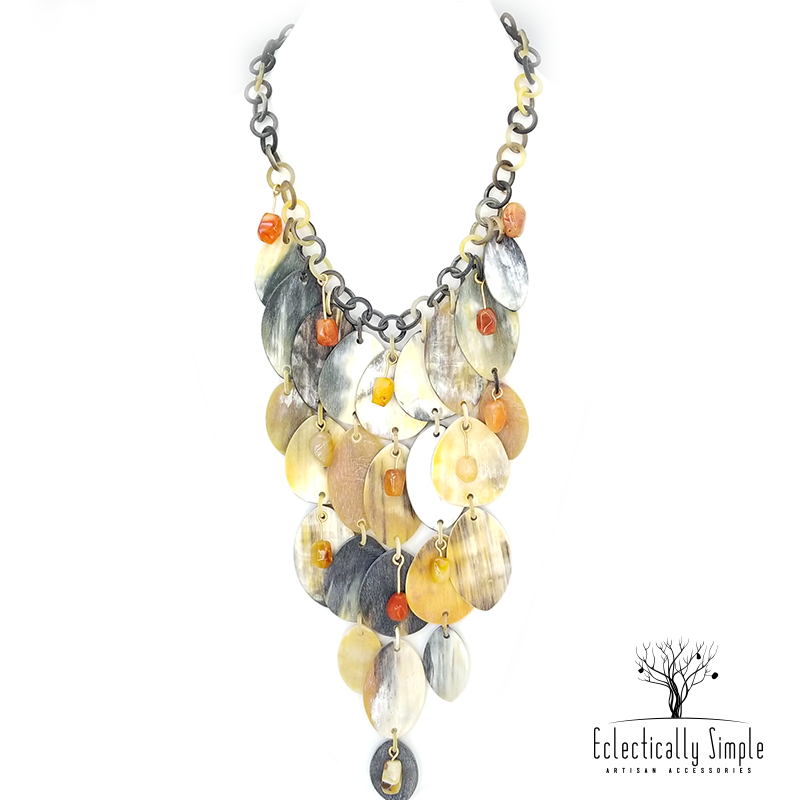 Apparel & Accessories > Jewelry Waterfall Necklace , Women's Necklace - Eclectically Simple, LLC