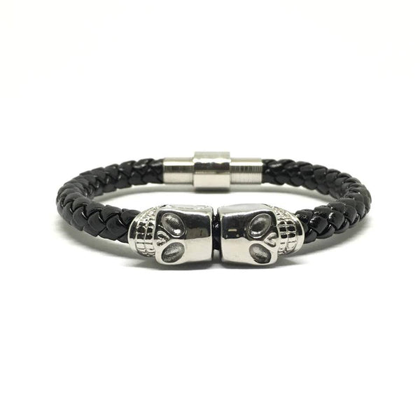 Silver Skull / Nappa Leather