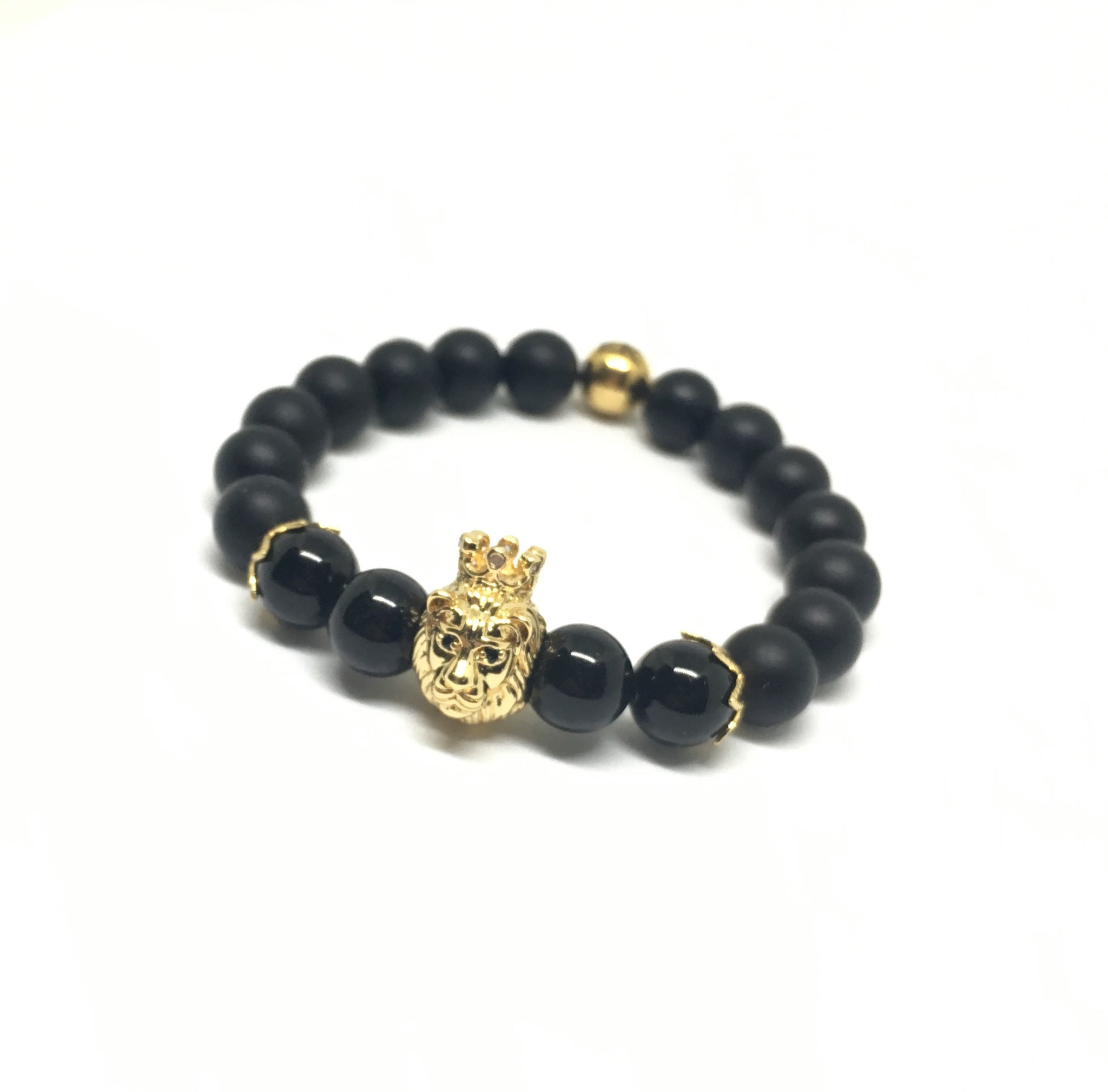 Crowned Lion with Matte Black