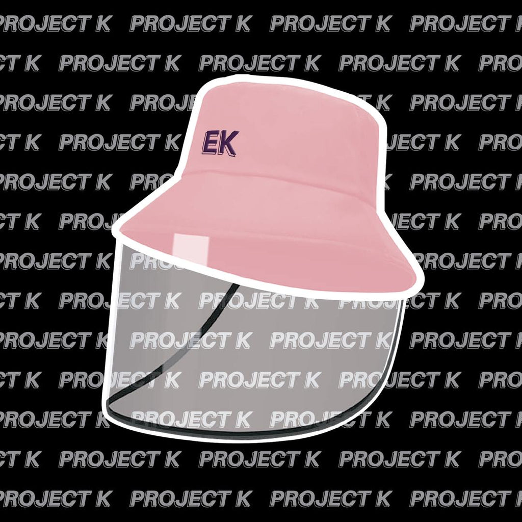 Pink Bucket Hat with protection shield