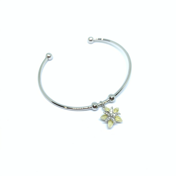 Blossom Bangle With Cubic Stone
