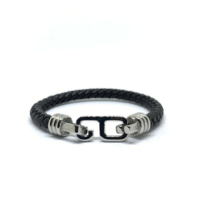 Sies Leather Bracelet Silver