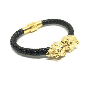 Twin Gold Lion / Nappa Leather