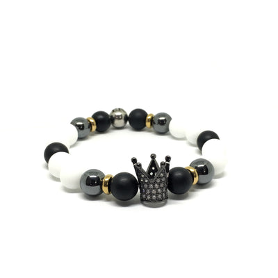 Black Crown With Matte White