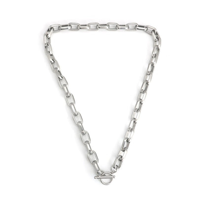 Silver O Link Necklace