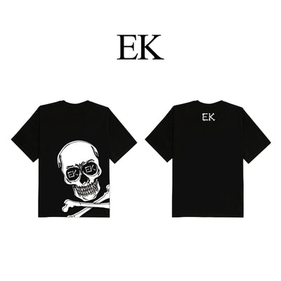 White Skeleton Black T-shirt