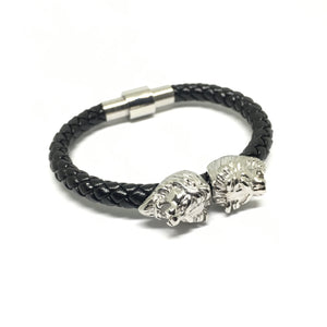 Twin Silver Lion / Nappa Leather