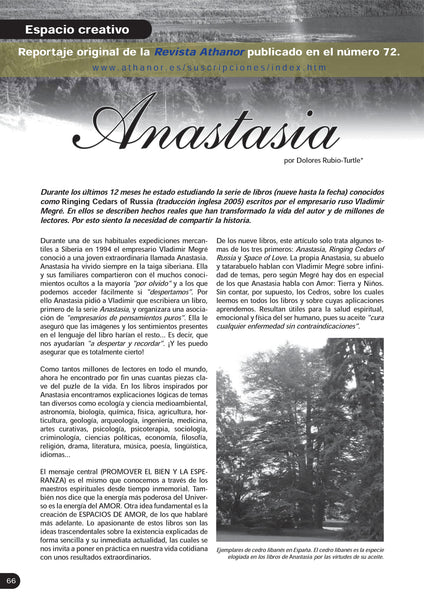 Anastasia article