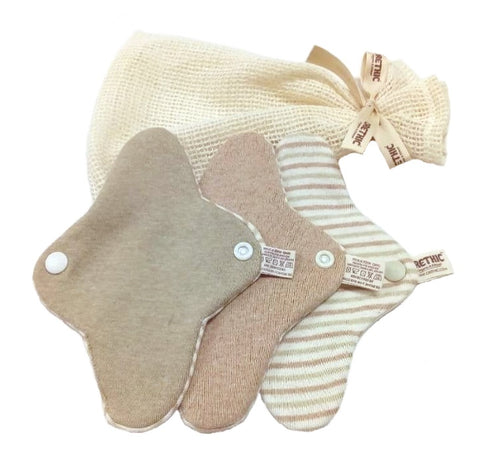 Organic Cloth Pantyliner Packs - Orethic.com