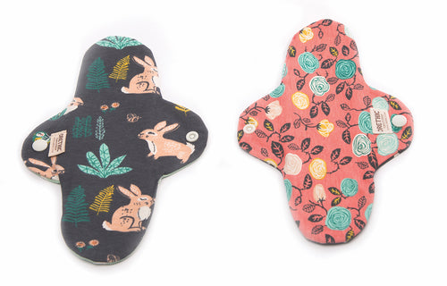 Organic Cloth Pads Fun prints - Orethic.com