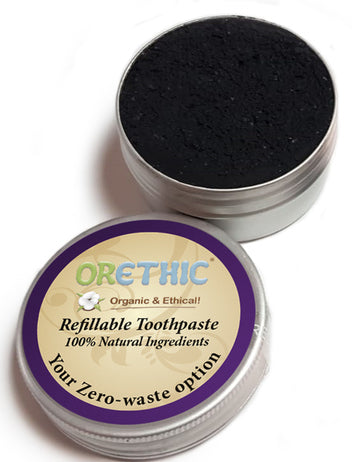 Solid Toothpaste charcoal - Orethic.com