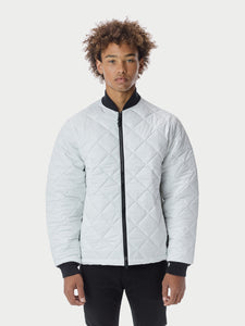 Quilted ThroughQuilted Bomber - White Quilted Bomber - White