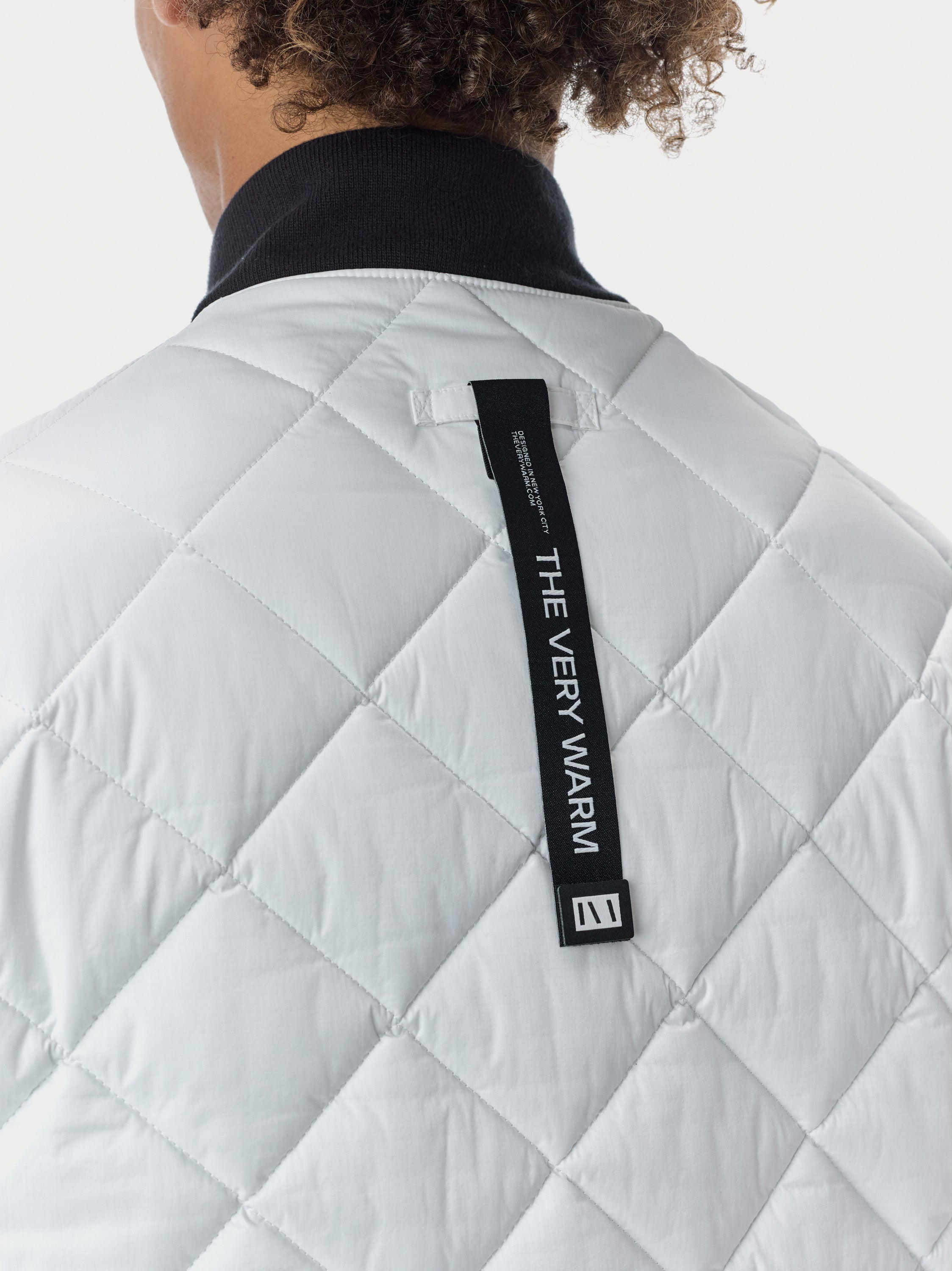 Quilted Through Quilted Bomber - White Quilted Bomber - White