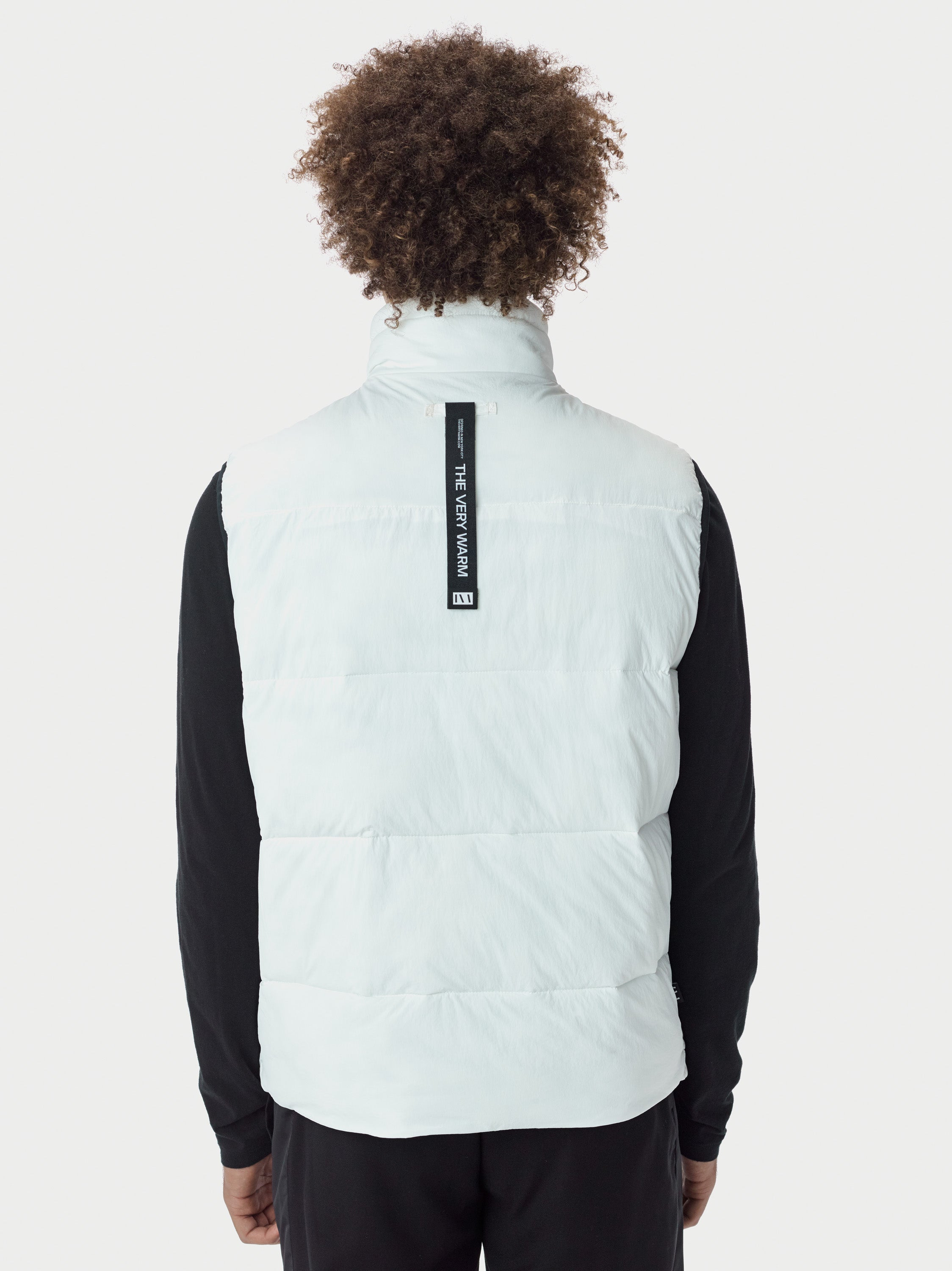 Filled Bubble Puffer Vest - White Puffer Vest - White