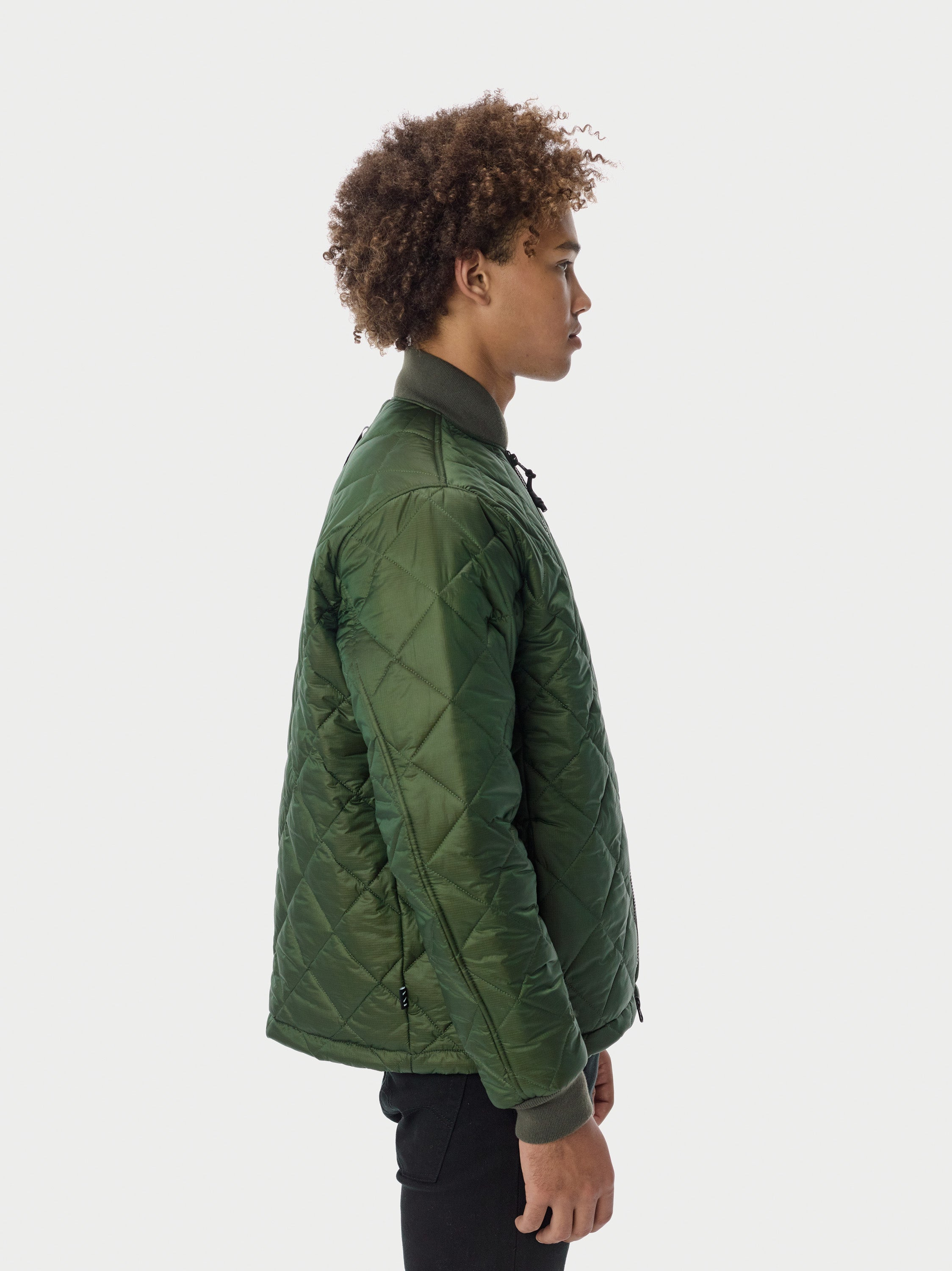 Quilted Through Quilted Bomber - Olive [bomber_Vandal], [The Very Warm], [The Very Warm]
