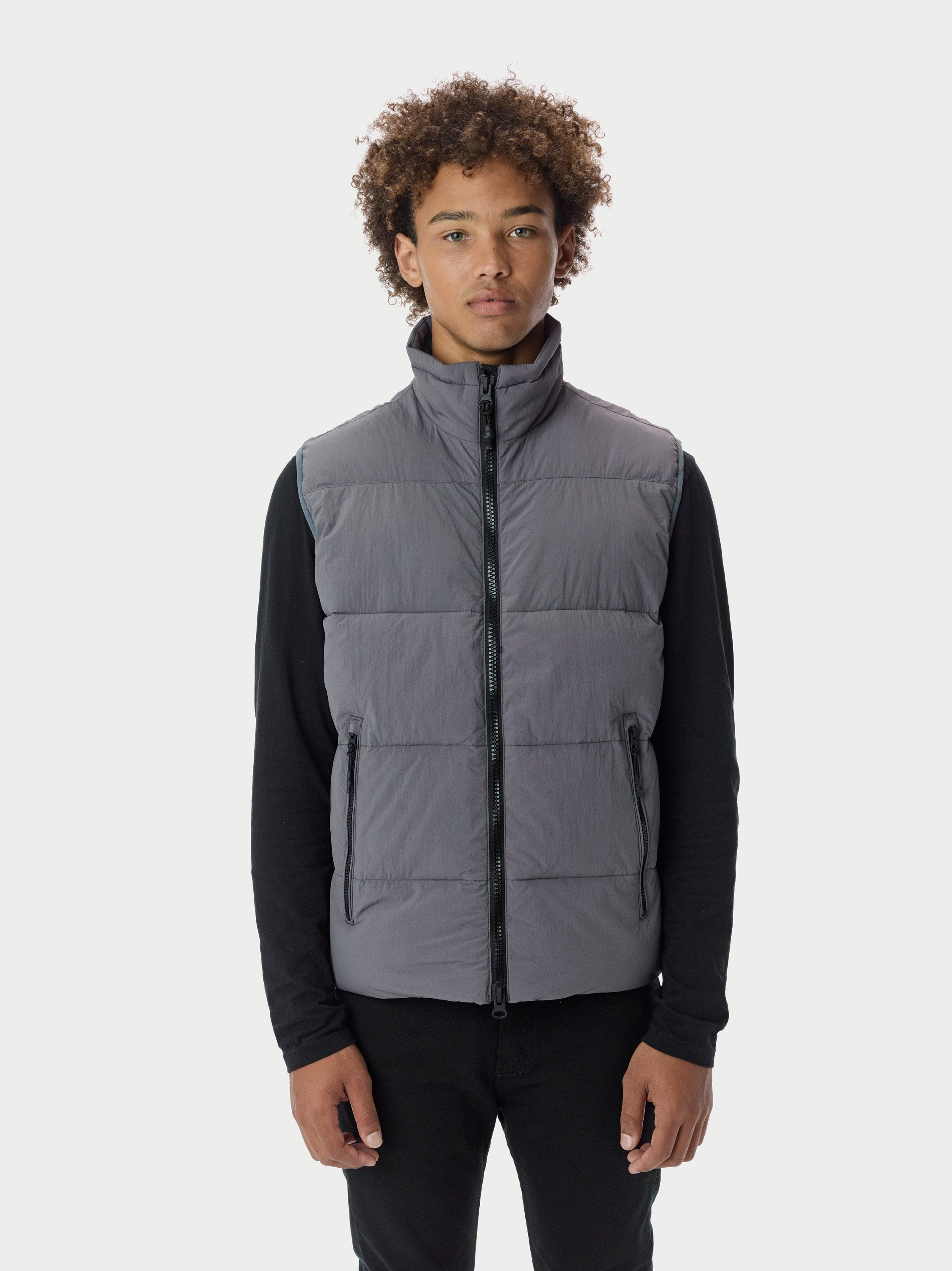 Filled Bubble Puffer Vest - Grey [bomber_Vandal], [The Very Warm], [The Very Warm]
