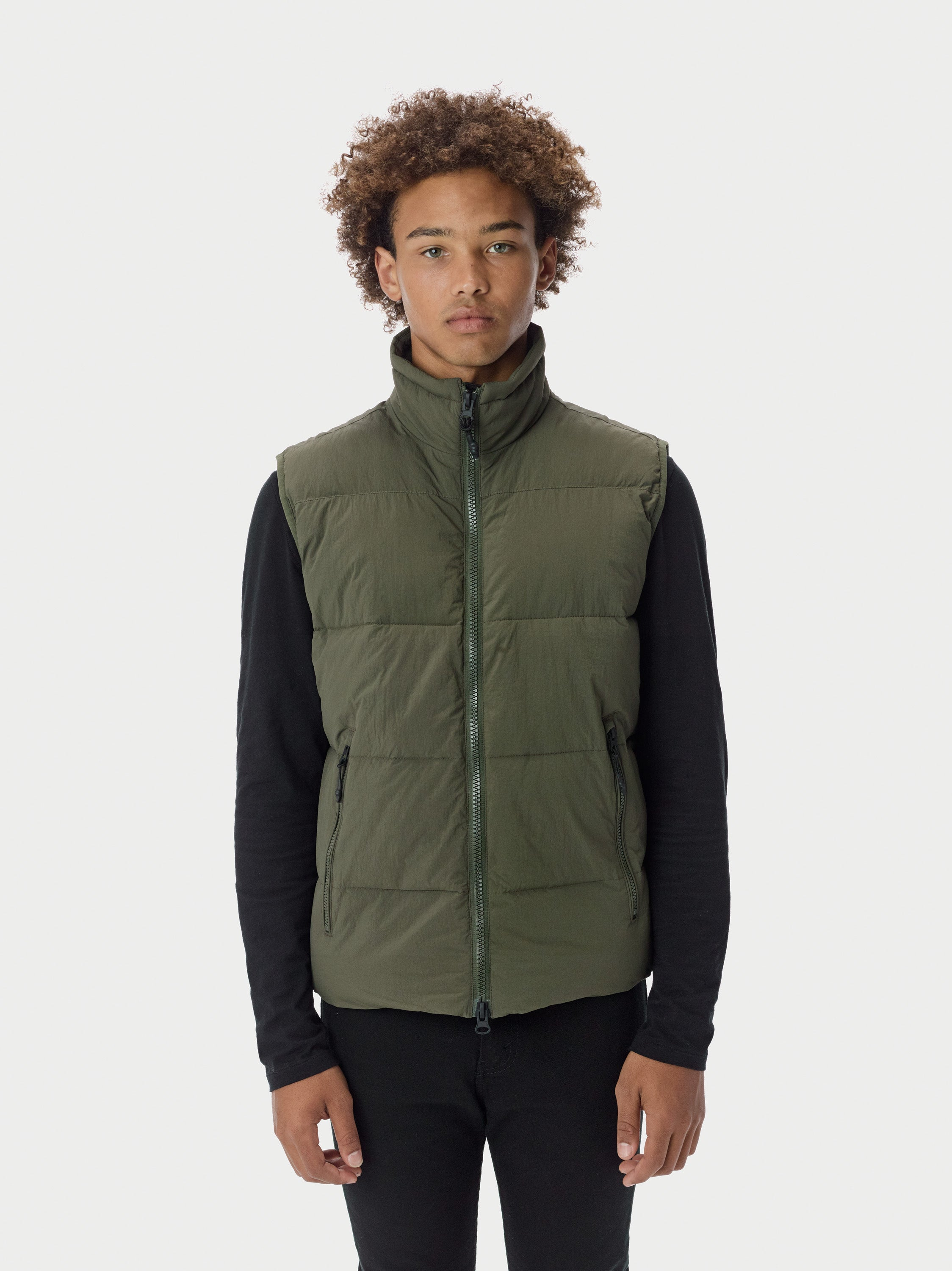 Filled Bubble Puffer Vest - Olive [bomber_Vandal], [The Very Warm], [The Very Warm]